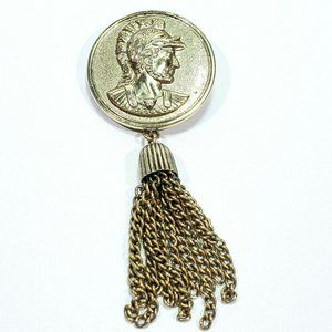 Sarah Coventry Roman Soldier Tassel Brooch